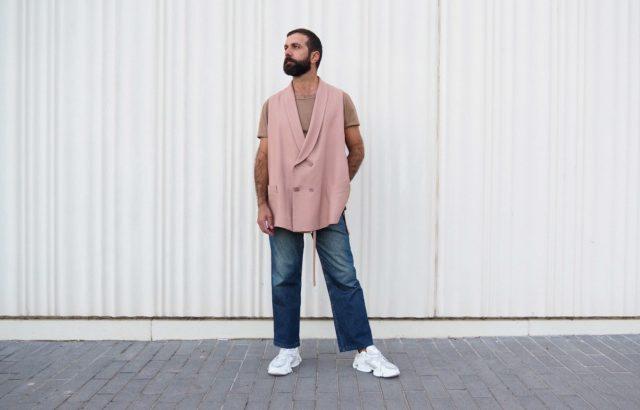 Pedro Campello Vest Dusty Pink - LR3