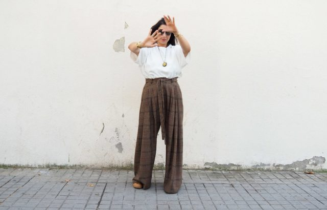Sharona Almog Trousers Checks 2 - LR3