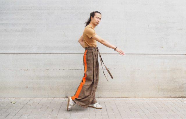 Junyi Sun Trousers Checks 2 - LR3