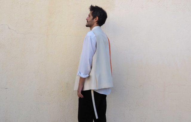 Luis Aguilar Vest Ecru - LR3