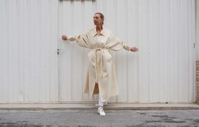 Ángeles Lacalle Coat Ecru - LR3
