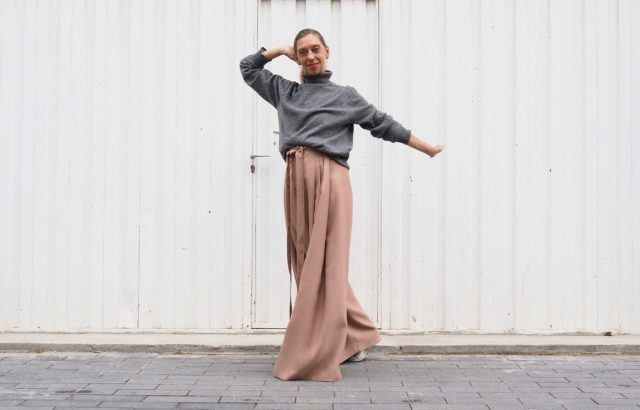 Ángeles Lacalle Trousers Dusty Pink - LR3