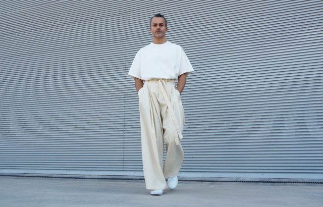 James Silva Trousers Ecru - LR3