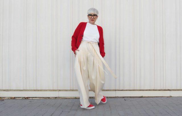 Lidia Mombiela Trousers Ecru - LR3