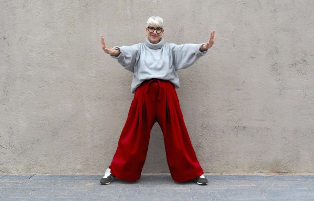 Lidia Mombiela Trousers Deep Red - LR3