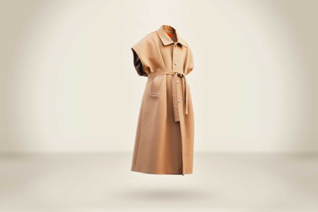 Sleeveless Camel Coat - LR3