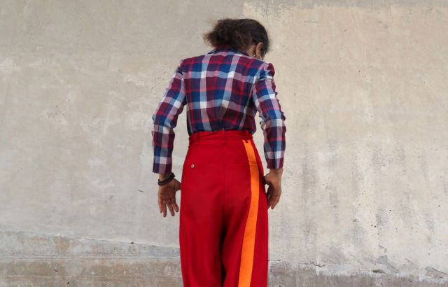 Christina Kapongo Trousers Deep Red - LR3