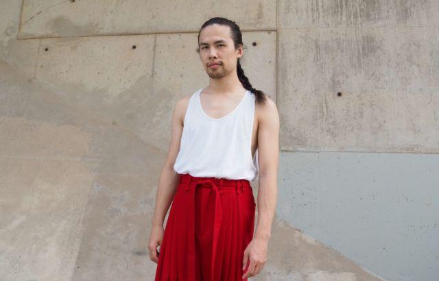 Junyi Sun Trousers Deep Red - LR3