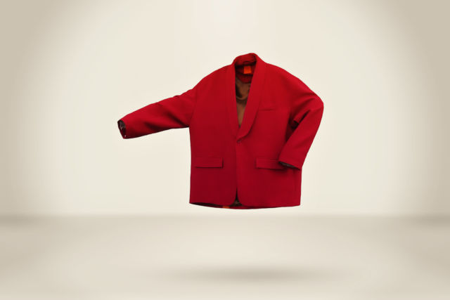 Deep Red Blazer - LR3