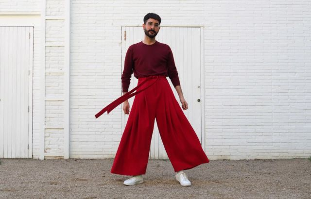 Sito Torres Deep Red Trousers - LR3