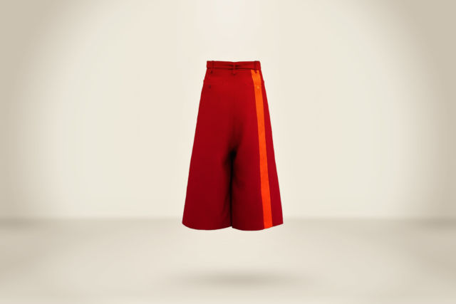 Luis Fernández Trousers Deep Red - LR3