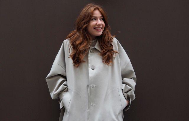 Anna Harfenist Raincot Gray - LR3