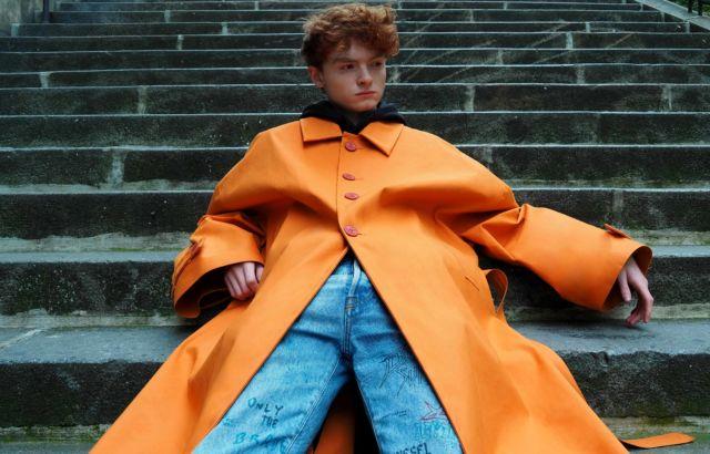 Louis Russo Raincoat Orange - LR3