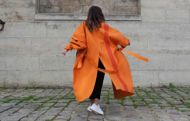 Marta Cánovas Raincoat Orange - LR3