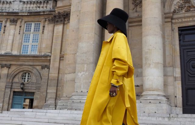 Moulika Varango Raincoat Yellow - LR3