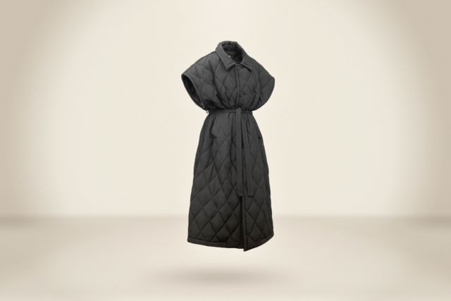 Sleeveless Black Padding Coat - LR3