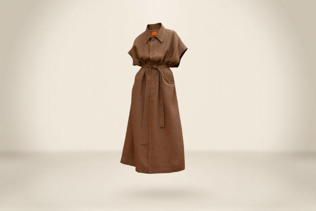 Dark Camel Sleeveless Coat - LR3