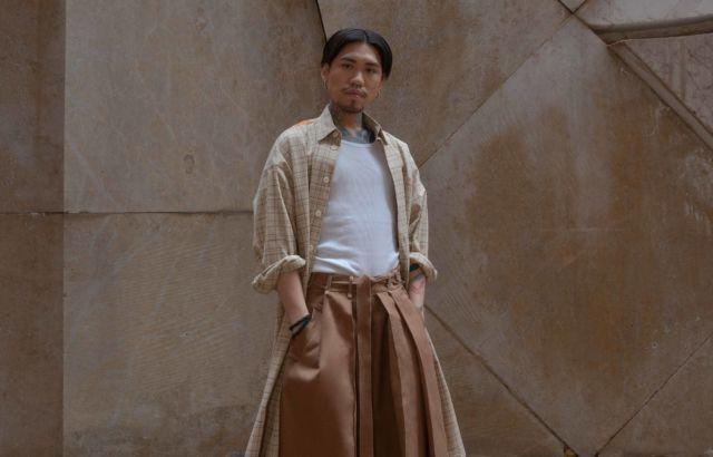 Benjamin Au Hakama Dark Camel - LR3